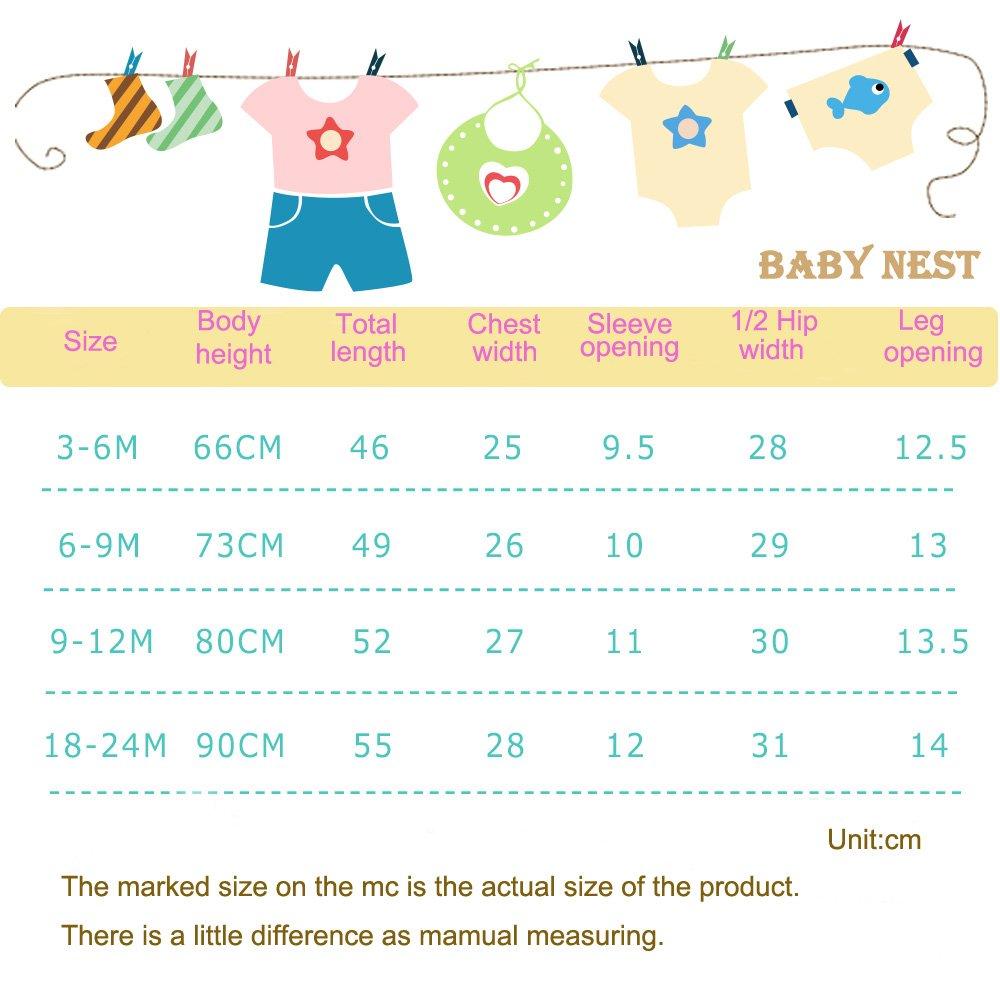 Baby Boys Girls Bodysuit Short Sleeves Infant Toddler Cotton Rompers Pack of 2