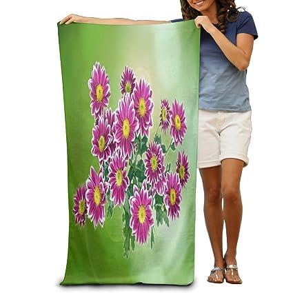 Promoción grande de tejido de color verde toalla de playa piscina toalla, toallas de baño