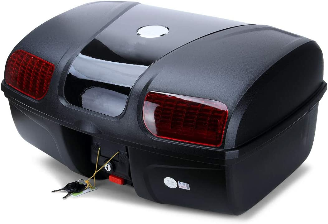 AUTOINBOX Universal Motorcycle Rear Top Box Tail Trunk Luggage