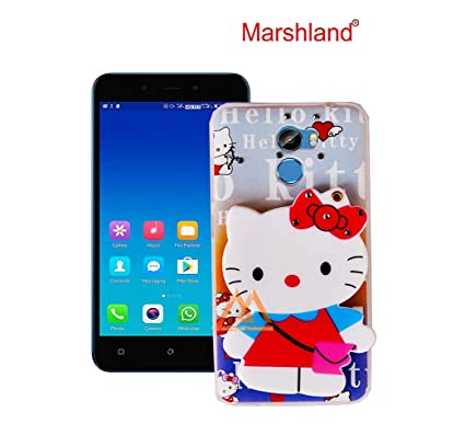 new concept f0be8 36a5c Marshland Gionee X1 Back Cover for Girls 3D Stylish Mirror View Cartoon  Hello Kitty Back Case