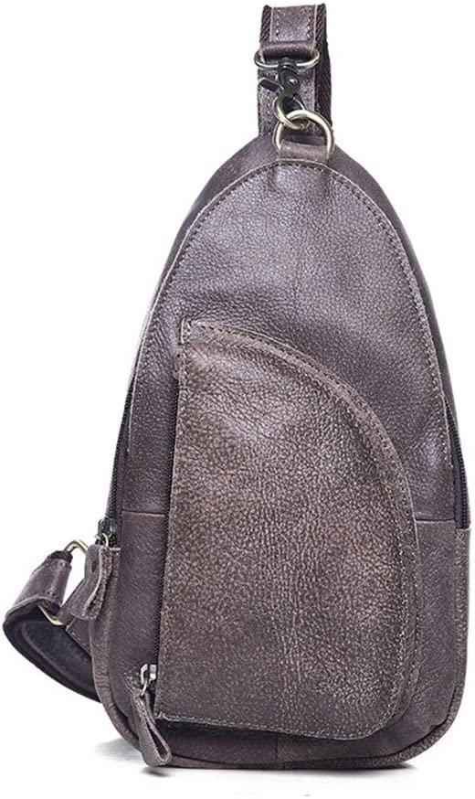 Bolsa de pecho para hombre y mujer Sling Pack Retro Chest Bag Mens Women Backpack Mochila