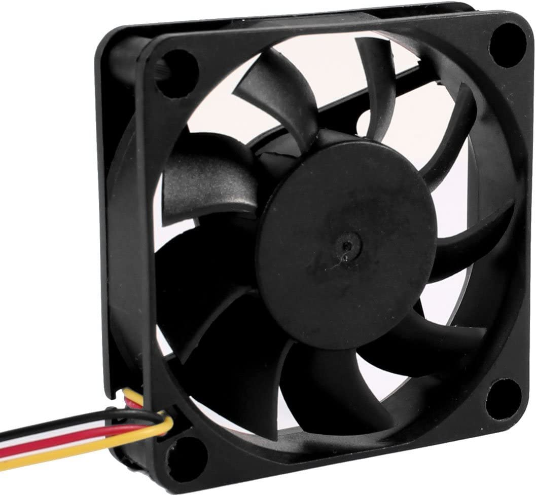 Rarido CAA Hot DC 12V 0.2A Black 60x60mm Plastic 3 Pin Connector PC Computer Case Cooling Fan