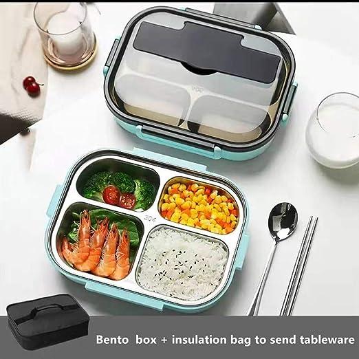 GRAVITY Caja de Almuerzo Bento para Adultos y niños, de Acero ...