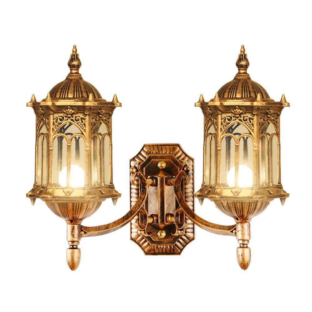MDERTY LED Wandleuchte Wandlampe Doppel Kopf Außenleuchte wasserdicht Hintergrund Gang leuchtet Außenbeleuchtung Wohnzimmer Schlafzimmer Treppenhaus Flur