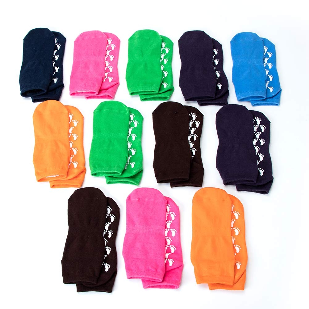 Floor Socks Universal Non Slip Dance Socks Yoga Socks QEES 7 Pairs //12 Pairs Grip Socks for Women Tread Socks for Girls or Boys WZ11 Random Color