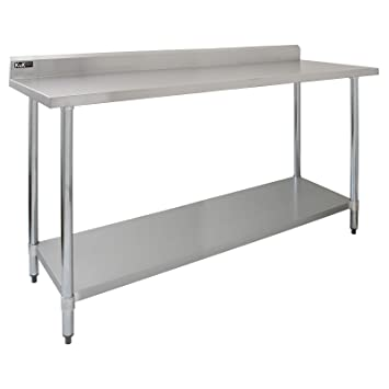 KuKoo Ft Food Preparation Kitchen Catering Table Stainless Steel - 6 ft stainless steel table