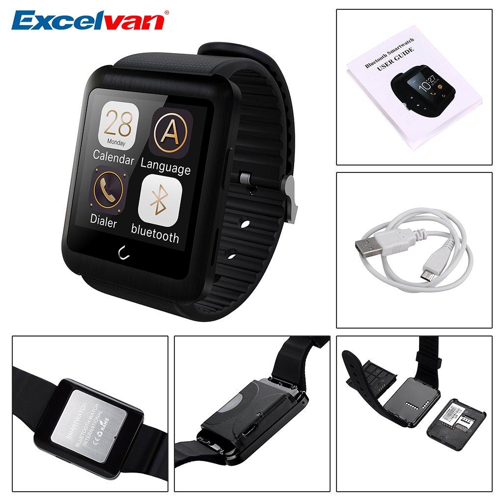 Excelvan U11 Bluetooth Smartwatch GSM Supervisión del ...