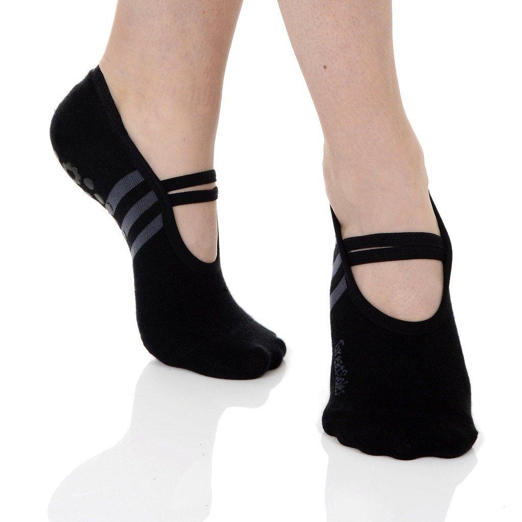 Great Soles Ballet Non Skid Socks for Women - Non Slip Grip Yoga Socks for Pilates, Barre and Everyday Wear Nylon) 1116