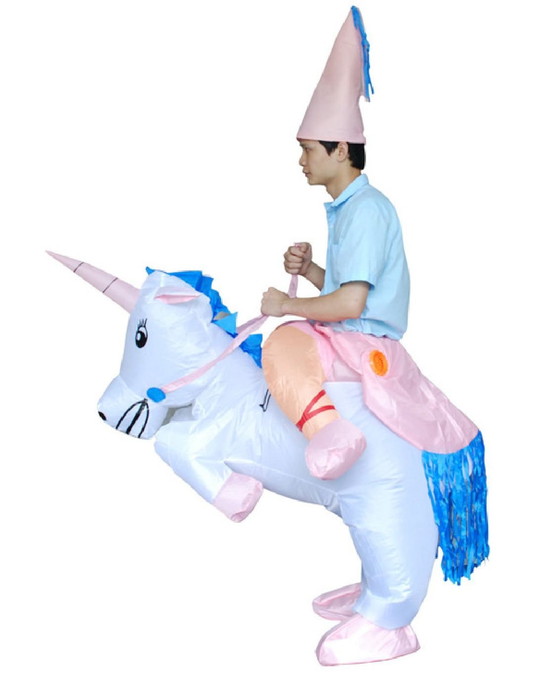 Halloween Costumes Adult Inflatable Cowboy Pegasus Cosplay Outfit by Crystalbella Inflatable Cos