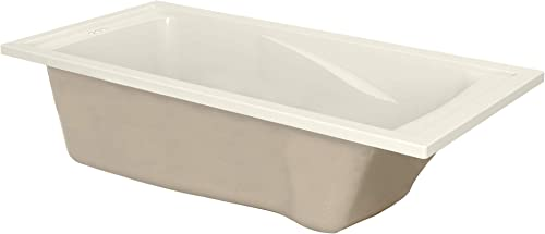 American Standard 7236V002.222 Evolution 6 ft. x 36 in. Deep Soaking Tub with Reversible Drain, Linen