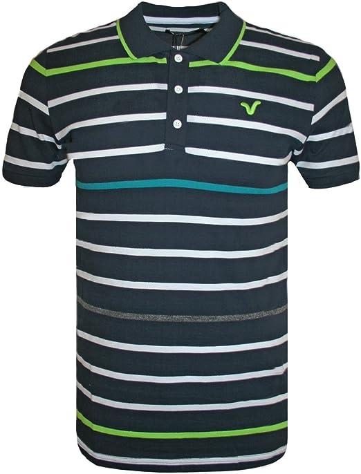 Voi Camisa Polo para Hombre, DISEÑO DE Rayas, Color Azul Marino ...
