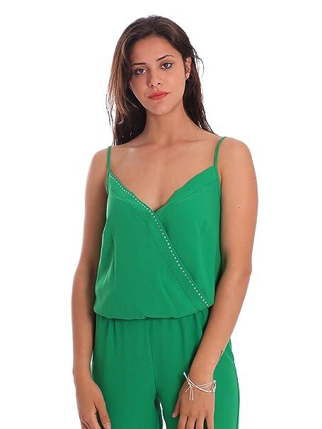 newest 3b930 5c5f5 Liu-Jo F18062T5160 Tuta Donna Verde 44: Amazon.it: Abbigliamento