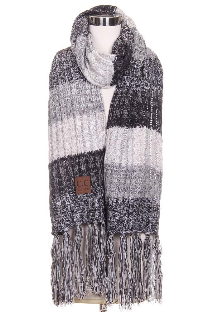 ScarvesMe CC Unisex CC Multicolor Knitted Long Winter Warm Oblong Scarf