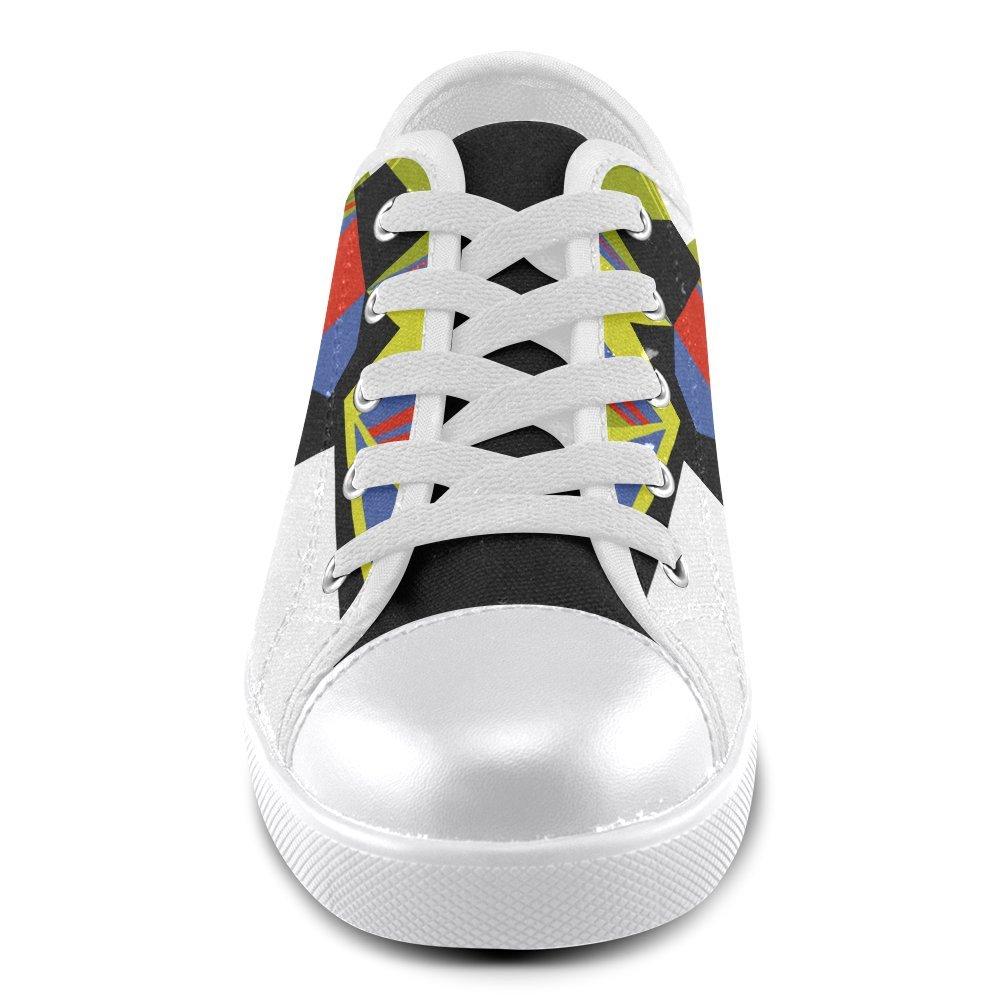 Model016 Artsdd Custom Artistic Plaid Alan Canvas Shoes for Men