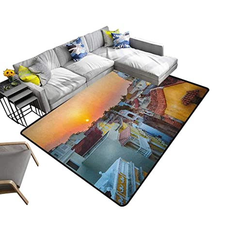 Amazon.com: Sunset Custom Pattern Floor mat View Over The ...
