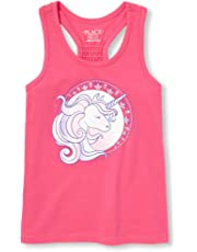The Childrens Place Girls Big Graphic Sleeveless Racerback