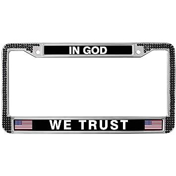 Amazon.com: License Plate Frame for Women,in GOD WE Trust License ...
