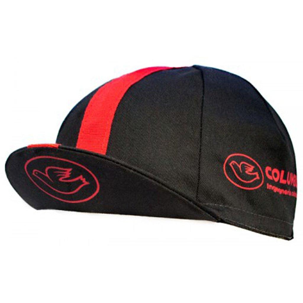 Taille Unique Noir//Rouge COLUMBUS Casquette Unisexe