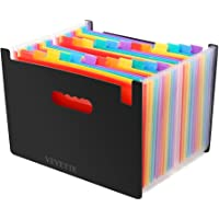 File Folder Organizer, Veyette Heavy Duty Expanding File Wallet with Tabs for Home School Office, A4 Size