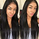 Unprocessed Brazilian Straight Hair with Closure 4×4 Size 100% Human Hair Bundles With Closure Color 1B# 8A Virgin Straight Hair 3 Bundles with Closure Free Part (22 24 26+20)