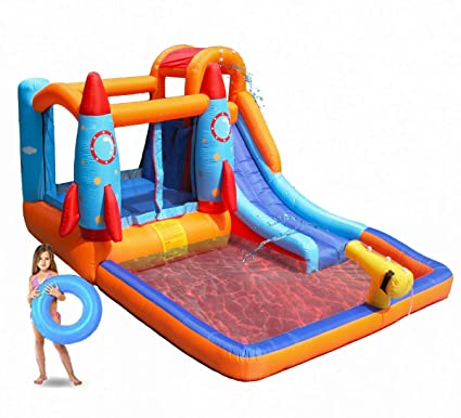 83e131d8f Amazon.com  MEIOUKA Rocket Inflatable Bounce Castle Jumper Bouncer ...