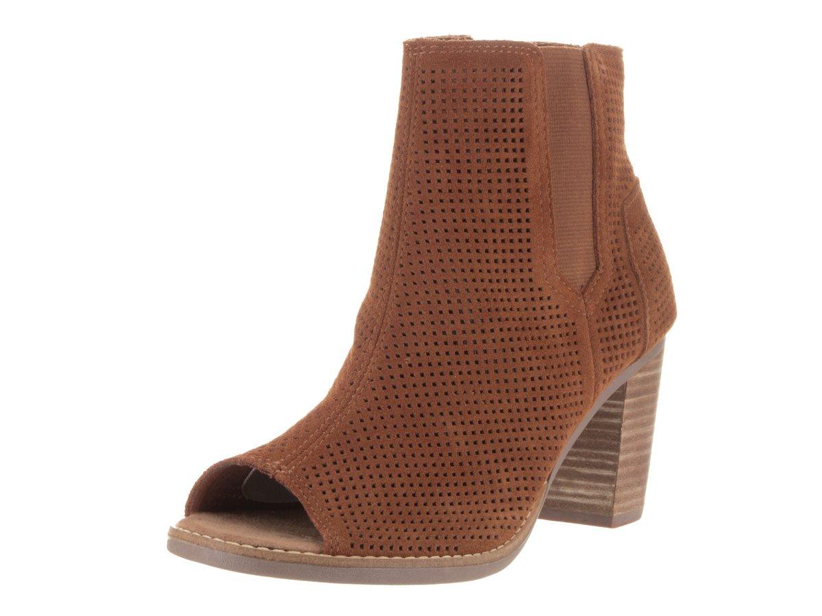 c8af206c316 Galleon - TOMS Womens Majorca Peep Toe Boot Cinnamon Size 7.5