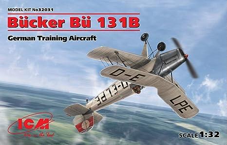 Amazon.com: ICM Airplane BÜCKER BÜ 131B, German Training ...
