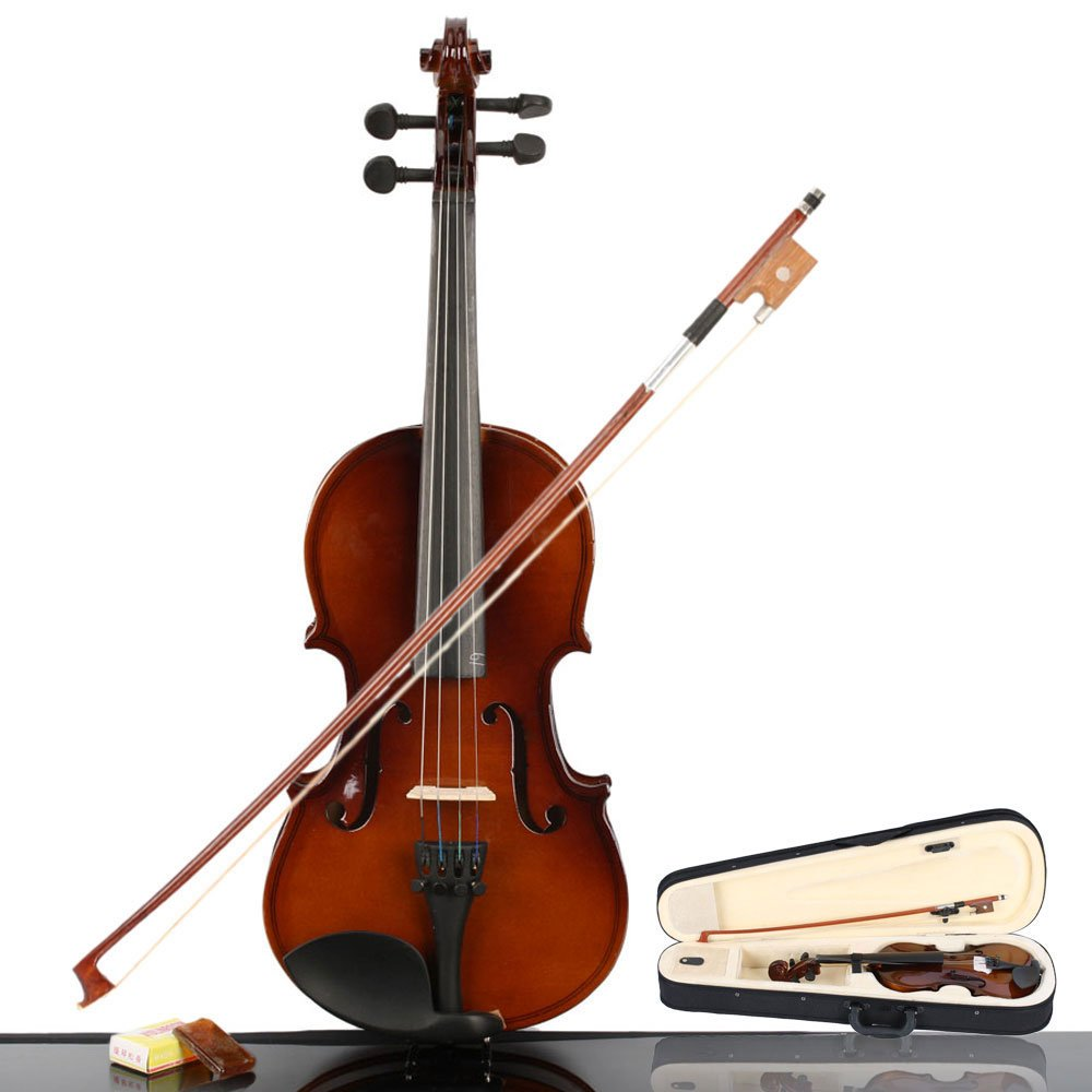 Amazon.com: MCH 1/4 Size Handmade Wooden Acoustic Violin Outfit for  Children with Case , Bow and Rosin, Beginner Pack for Student - Natural:  Musical ...