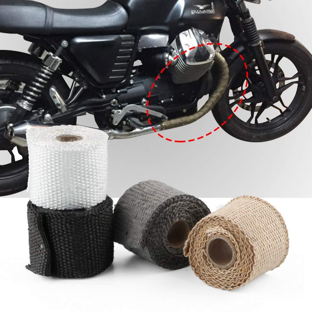 Ruban Isolant Thermique 50 mm x 1,5 m pour Pot d/échappement en Fibre de Verre Accessoire Moto