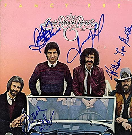 Oak Ridge Boys X4 Autographed Signed Fancy Free Album Flat AFTAL ...