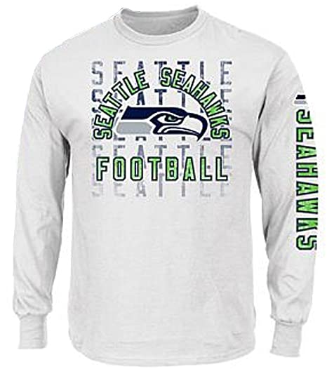 c22908a657d Image Unavailable. Image not available for. Color: Seattle Seahawks NFL  Majestic Mens White Long Sleeve Liner Shirt Size 5XL