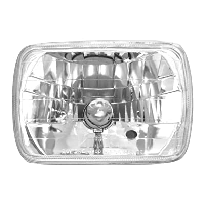 "GG Grand General 77390 7.85"" x 5.6"" Headlight (Rectangle 200M/M X 142M/M with H4 194 Blue Bulb): Automotive"