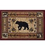 Universal Rugs NTR6550 2×3 Black Bear Brown Scatter Mat Rug, 2′ x 3 Review
