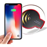 Wireless Charger, 5 W Fast Wireless Charging Stand, Qi-Certified, Compatible Phone XR/Xs Max/XS/X/8/8 Plus, Fast-Charging Galaxy S10/S9/S9+/S8/S8+/Note 9/Note 8 (No AC Adapter)-Black-A7