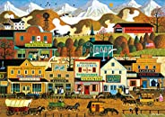 Buffalo Games - Charles Wysocki - Pete's Gambling Hall - 300 Large Piece Jigsaw Puzzle