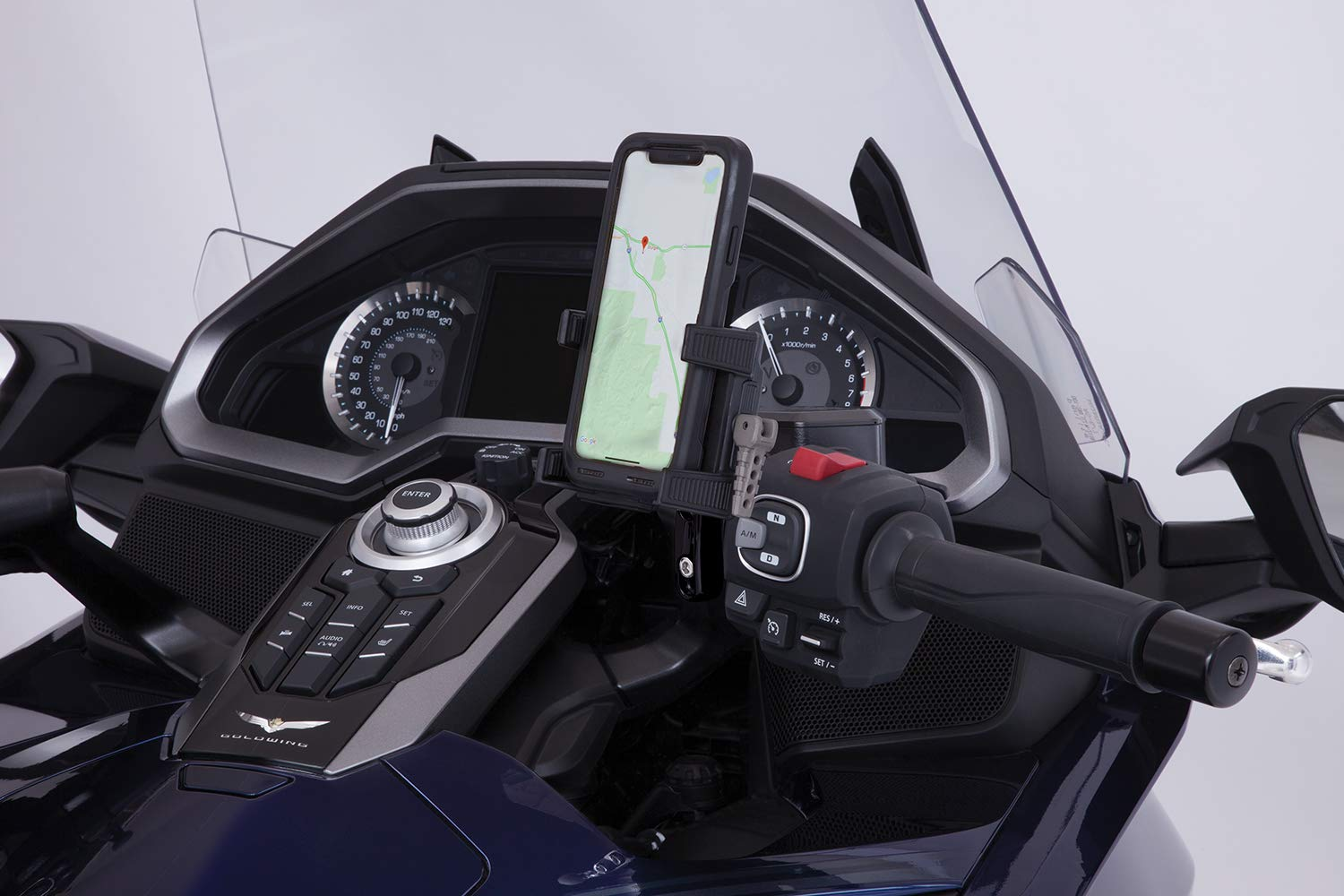 Goldstrike Smartphone Holder with Black Perch Mount for Gold Wing