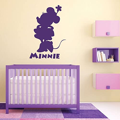 Minnie Mouse Wall Decals   Vinyl Decor, Disney Wall Art, Minnie Mouse  Silhouette,