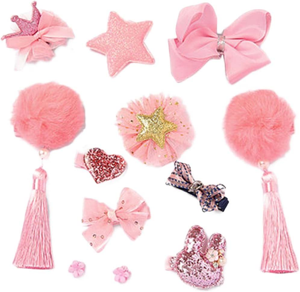 Black Temptation Cute Girls Hair Accessories Hair Clips Hair Bands Conjunto de Joyas Little Girl Presente de cumpleaños #9