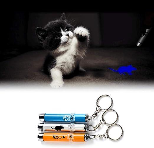 Puntero LED 3 Unidades para Gatos Juguete Gato doméstico Juguete Interactivo Juguetes de Inteligencia para Gatos Perros Gato doméstico Juguetes LED Pointer Pen Light Cat Training Toy Tool: Amazon.es: Productos para mascotas