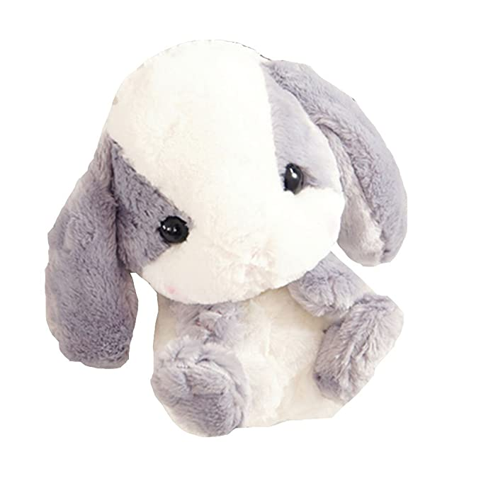 New Lovely 3D Pom Pom Plush Stuffed Cute Lop Rabbit Bunny Hare Doll  Knapsack Zipper Closure 7da493dd16b87