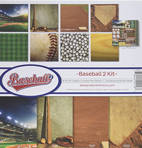 Reminisce Baseball 2 Collection Scrapbook Kit 2 by Reminisce