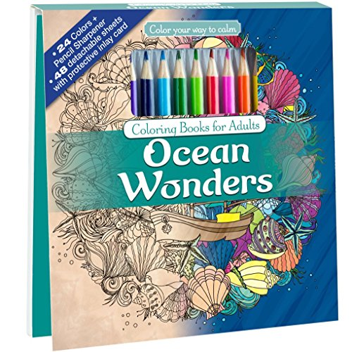 Pdf Crafts Ocean Wonders Adult Coloring Book Set With 24 Colored Pencils And Pencil Sharpener Included: Color Your Way To Calm