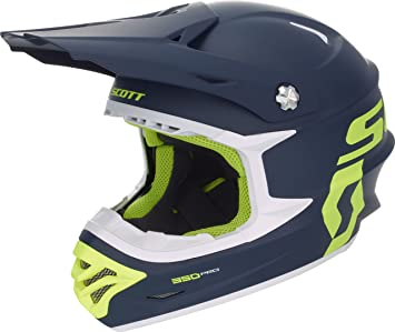 Scott 350 Pro MX Enduro Moto/Bike Casco Azul/Amarillo 2018, color azul
