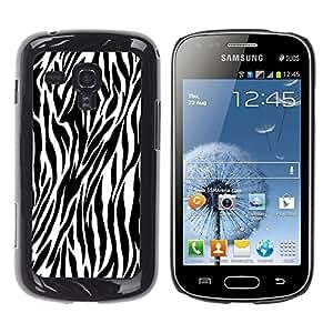 - zebra print pattern - - Monedero pared Design Premium cuero del tirš®n magnšŠtico delgado del caso de la cubierta pata de ca FOR Samsung GALAXY Trend Duos S7562 Funny House