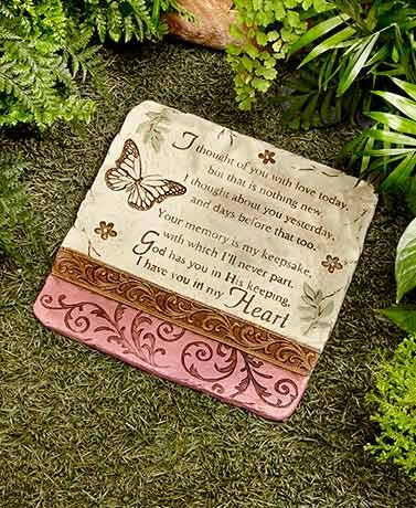 I Thought of You Stone Decorative memorial stone For your yard (Garden Keepsake)