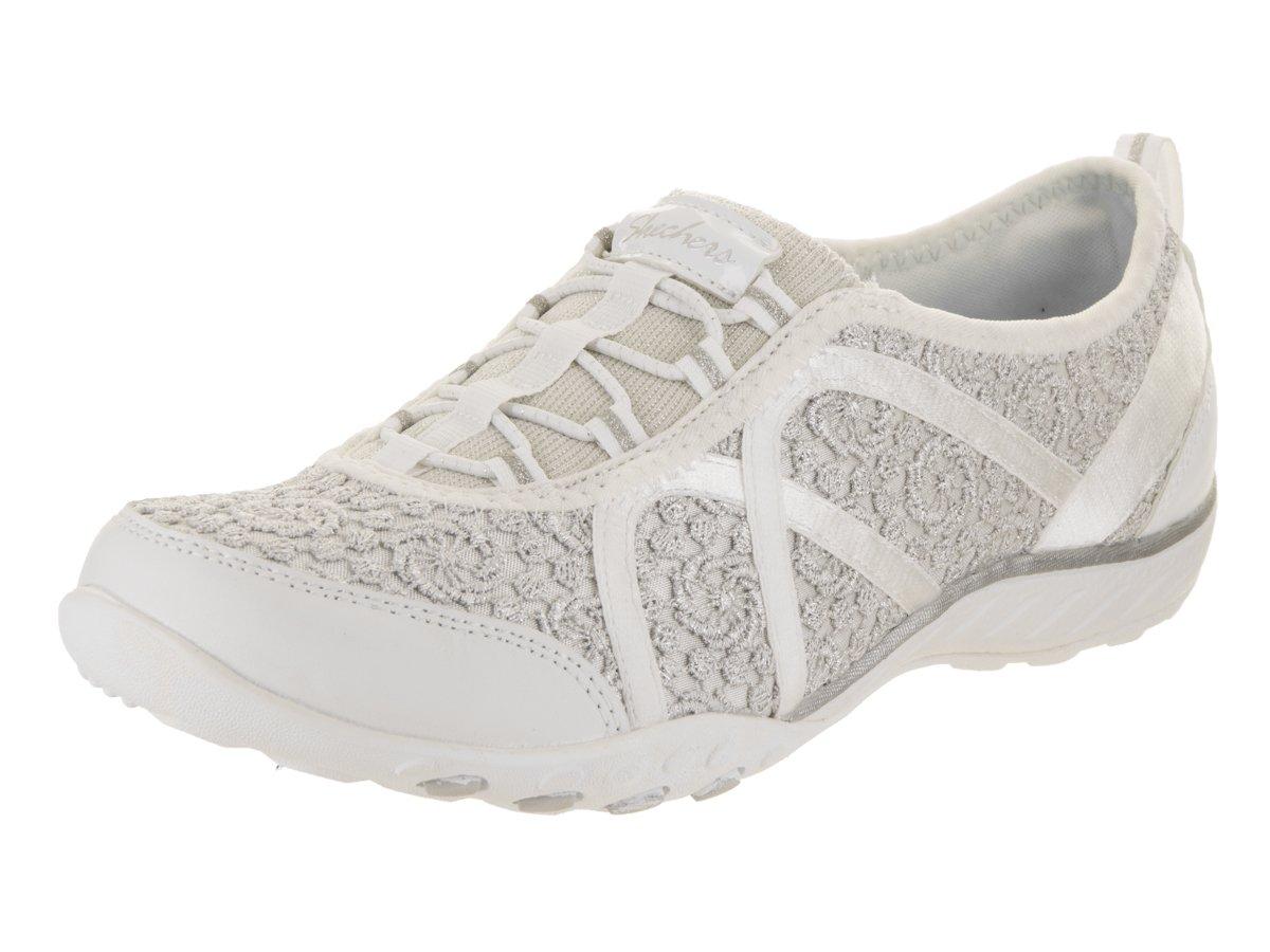 Skechers Damen Breathe-Easy-Sweet Darling Sneaker 37,5 EU F wei    silber -  associate-degree.de eb4a2add85