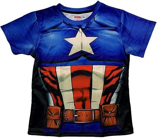 tzxdbh Hero Ropa Infantil de Manga Corta Camiseta capitán Acero de Acero Camisa Transpirable de Secado rápido de Verano: Amazon.es: Hogar