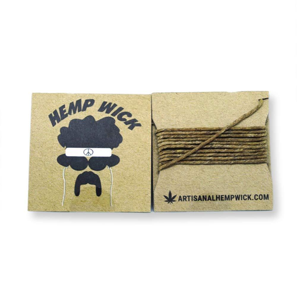 CANADIAN Hemp Wick 5 Feet. 100% Natural With Beeswax Artisanal Hemp Wick