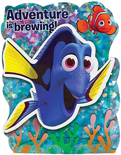 Big Party Pack Disney //Pixar Finding Dory Party Accessory 494143 Amscan Jumbo Deluxe Invitations
