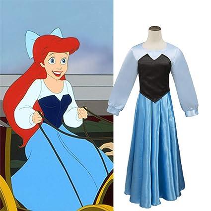 GGOODD Disney Anime Pequeño Sirena Princesa Vestido Ariel ...